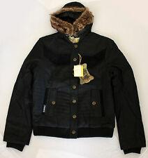 BILLABONG Gaya black hooded jacket woman giacca nera con cappuccio donna _