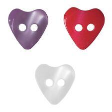 15 mm Azul Glitter Corazón Botones 2 agujero disponible en envases de 2 5 o 10
