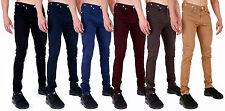 Jeans para hombre Super Skinny Stretch Chinos Smart Casual Pantalones Pantalones por anuncio