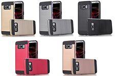 Samsung Galaxy S8 / S8 + Dual Layer Hybrid Metallic Extreme Anti-Shock Case c2