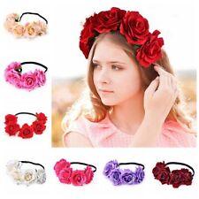 Cheveux Couronne Florale Bandeaux Fleur Rose Couvre-chef De Mariage Coiffure