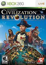 CIVILIZATION REVOLUTION --- XBOX 360 Complete w/ Box, Manual