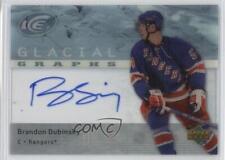 2007 Upper Deck Ice Glacial Graphs #GG-BD Brandon Dubinsky New York Rangers Auto