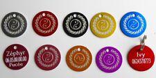 Médaille ying yang gravée pour animaux chien ou chat - 8 couleurs 25 et 32 mm