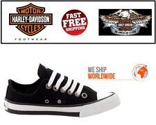 Harley-Davidson D83817 Women's Zia Fashion Black Canvas Sneakers Shoes