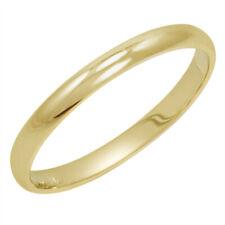 Women's 10K Yellow Gold 2MM Classic Fit Plain Wedding Band