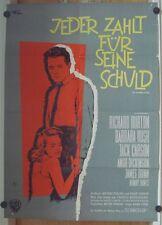 JEDER ZAHLT FÜR SEINE SCHULD (Kinoplakat/Filmplakat '60) - RICHARD BURTON
