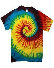 RAINBOW SPIRAL TIE DYE t shirt unisex hand tie dyed T Shirt All Sizes