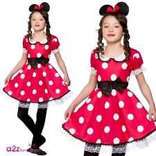 Fille Mignonne de Souris Enfant Fille Fancy Dress Costume Minnie Mickey