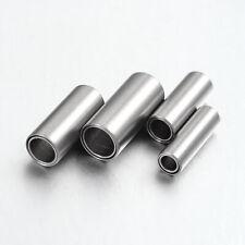 Magnetverschluß aus Edelstahl matt Zylinder Schmuck Verschluss Ketten 3/4/5/6 mm