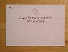 60 souhaitent personnalisé arbre balises / Cartes Mariage Fiançailles Anniversaire Coeur