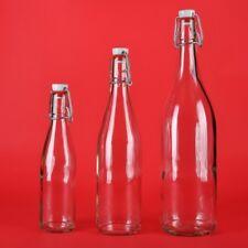 Glasflasche Bügelflasche 100/250/500/750ml 1Liter Wein-Flasche Bügelverschluss