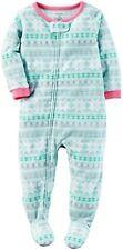 Carters Strampler Gr. 74 - 110 NEU! Schlafanzug Schneeflocken türkis rosa Fleece