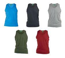D555 PURO COTONE Plain Gilet TAGLIA 1XL a 8XL, 6 Opzioni di colore