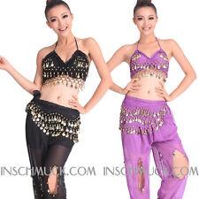 C89 Danza Del Vientre Disfraz con 2 Piezas Top Top Y Pantalón Danza del Vientre