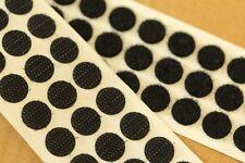 100 x 13mm Selbstklebend schwarzer Haken & Schlaufe Verschluss Münzen Scheibe 50
