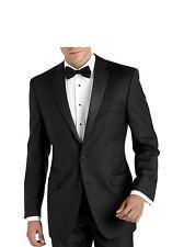 46XL Black Chaps Tuxedo Jacket Grosgrain Satin Lapel Wedding Prom Cruise Mason