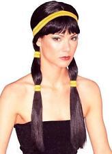 Sexy Indian Princess Native American Black Costume Wig