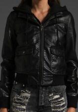 Women Leather Jacket Soft Solid Lambskin New Handmade Motorcycle Biker S M # 66