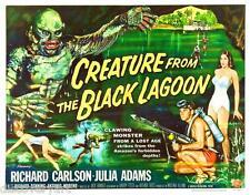 Creature from the Black Lagoon 1954 Canvas Art B Movie Poster Print Sc-Fi Horror