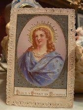 ancienne image religieuse pieuse canivet dentelle holy card 19 eme mabillon
