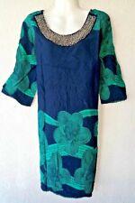 Strandkleid Sommerkleid Boho Goa Hippie Tunika Kleid Bluse Long Shirt Indisch