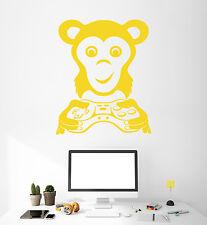 Vinyl Wall Decal Video Game Gamer Monkey Animal Joystick Stickers (1484ig)