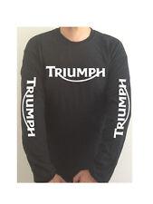 TRIUMPH - SLEEVE PRINT motorcycle t-shirt SEE BOTH PHOTOS