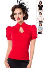 Belsira Damen Bluse Shirt Top 34 36 38 40 42 44 46 Rockabilly Retro