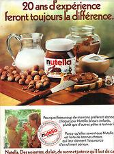 pubblicità pubblicità 1982 NUTELLA pasta si è diffuso per la chocolat