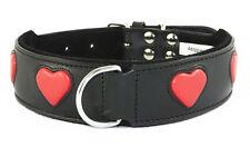 STAFFIE Noir chien collier rouge cœur staffy staffordshire bull terrier bulldog