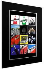 MOUNTED / FRAMED PRINT KRAFTWERK 12 ALBUM DISCOGRAPHY - 3 SIZES  POSTER GIFT ART