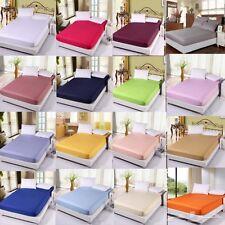 100% Algodón Ajustada bed sheet single Doble King todos los tamaños