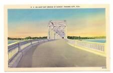 East Bay Bridge At Sunset Panama City FL Florida Postcard