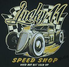 T-shirt #691 Lucky 11, v8 Hot Rod Old School Rockabilly MuscleCar US Car