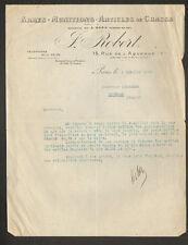 """PARIS (X°) ARMES MUNITIONS & ACCESSOIRES de CHASSE """"J. ROBERT"""" en 1938"""