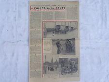 Article presse,La police de la route,roulottes 1935,