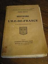 Histoire de l'Ile de France par Bernus gravure hors texte 3° édition