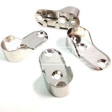 Armario Oval barra de colgar soportes soporte integral níquel Rod Ends 20mm X 45mm