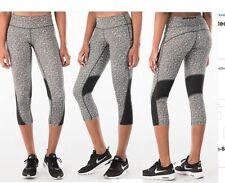 New NIKE Women's Dri-Fit Meteor Printed Running Capris 749458-100 Black/White