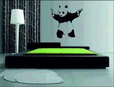Panda avec canons Autocollant Mural Vinyle Art Décalcomanie grandes photos graphiques Banksy pistolet