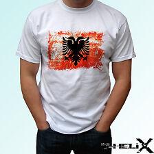Albania Flag - white t shirt top country design - mens womens kids & baby sizes