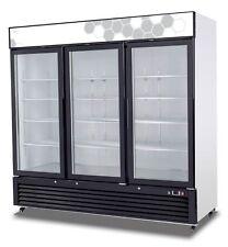 Migali Commercial Three Glass Door Freezer Merchandiser C-72FM. Free Lift Gate.