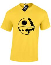 Estrella de la muerte camiseta para hombre silueta Planet Fighter Star Jedi Vader Wars Top