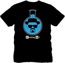 Official Breaking Bad Heisenberg Lab Flask T-shirt -Walter Blue Meth Crystal Tee
