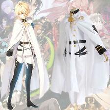 Anime Seraph of the end Vampire Mikaela Hyakuya Cosplay White uniform