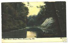 BLUE RIVER, SWOPE PARK, KANSAS CITY, MO. FISHING FISH