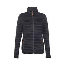 Womens Fleece Jacket Killtec Rakel 29942 Black Striped Full Zip Jacket NEW