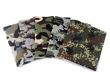 17 x 43 cm Bügelflicken, Aufbügler, Flicken, zum aufbügeln, 6 Camouflage Designs