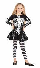 Skelett Kostüm Kinder Skelettkostüm Halloween Kinderkostüm Mädchen KK